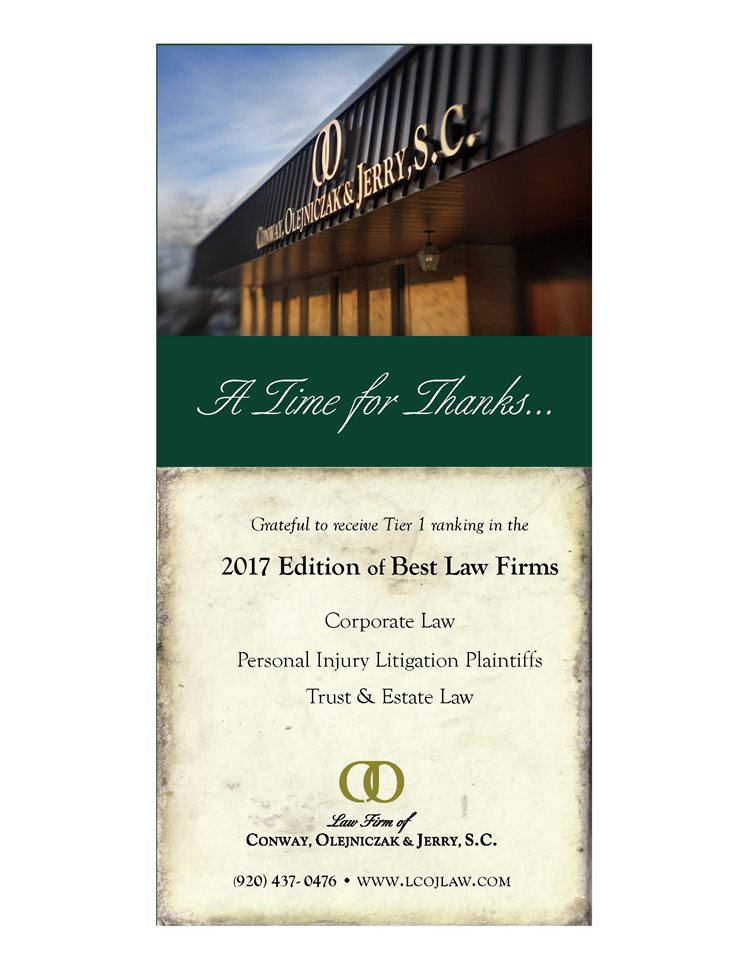 2017 Best Law Firm by US News & World Report